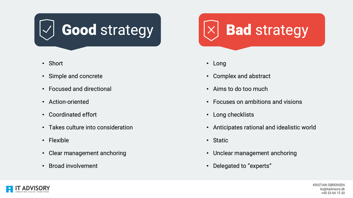 Good VS Bad strategy